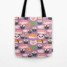 Kawaii sushi purple Tote Bag