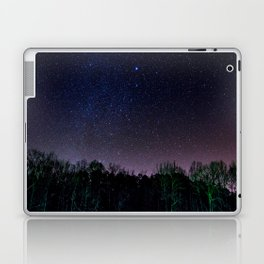 Star Night Sky Purple Hes With Forest Silhouette Laptop & iPad Skin