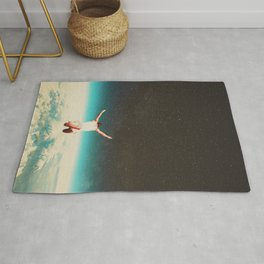 Falling with a hidden smile Rug