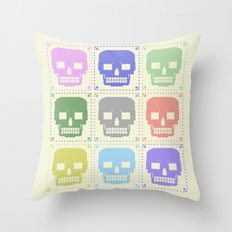 quilt of grrr (born to die). Throw Pillow