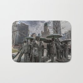 Chicago Sculptures Commuting to Work Bath Mat