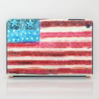 american flag iPad Cases featuring American Flag by Brontosaurus
