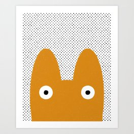 Orange Monster Art Print