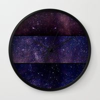 celestial Wall Clocks featuring Celestial by E.M. Shafer