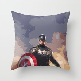 Captain of America Throw Pillow