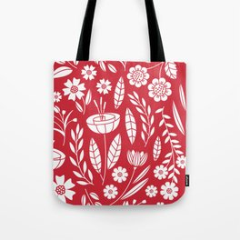 Blooming field - red Tote Bag