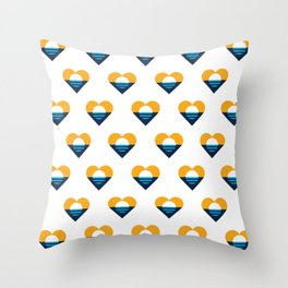 Heart of Milwaukee Throw Pillow