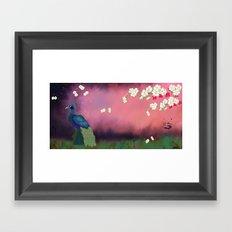 Peacock Blossoms Framed Art Print