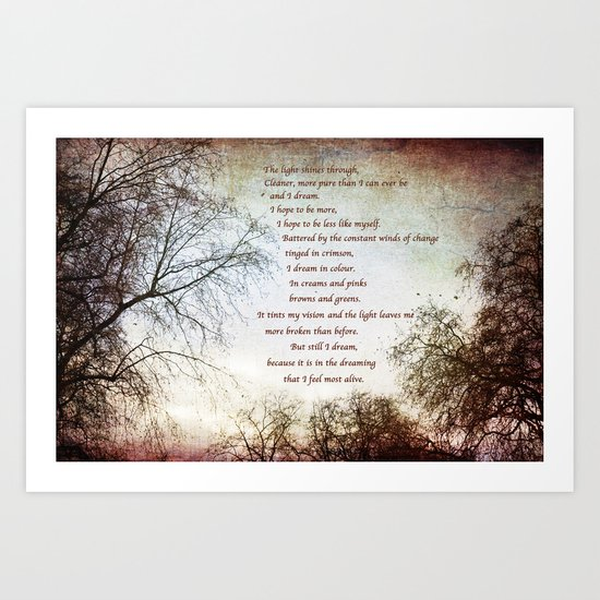 Look Up and The Dreaming Art Print