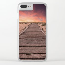 Sunset at Dungeness Clear iPhone Case
