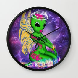Alien Angel Wall Clock