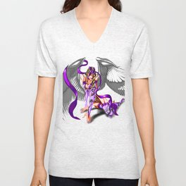 Lilith Violet Touch, The Purple Angel Unisex V-Neck
