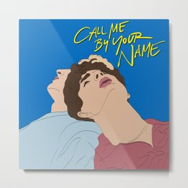 Call Me By Your Name Illustration Metal Print