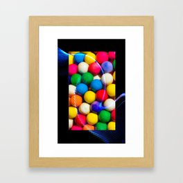 For the love of gumballs Framed Art Print
