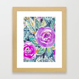 Gardens of Bolinas Purple Floral Framed Art Print