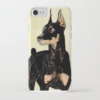 doberman iPhone & iPod Cases featuring Doberman by Cassandra Jean