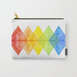 Geometric Watercolor Shapes Triangles Pattern Carry-All Pouch