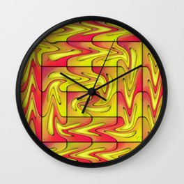 Liquefied abstract Wall Clock