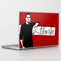 stiles stilinski Laptop & iPad Skins featuring Team Human: Stilinski  by Keyweegirlie