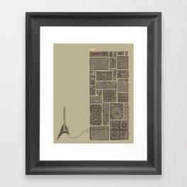 Turn It Up Framed Art Print