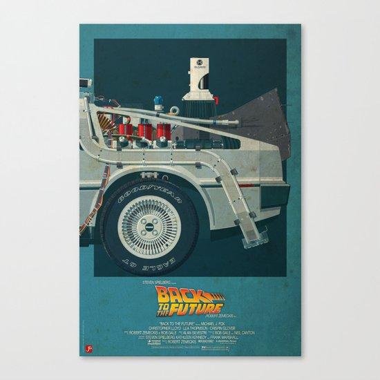 DeLorean Time Machine, Back to the Future Version 2 III/III Canvas Print