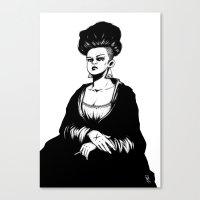 mona lisa Canvas Prints featuring Mona Lisa by Vincent Roché