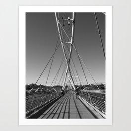 Tempe Town Lake Foot Bridge Art Print