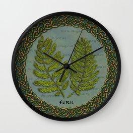 Celtic Ferns Wall Clock