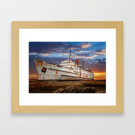 Duke of Lancaster Sunset Framed Art Print