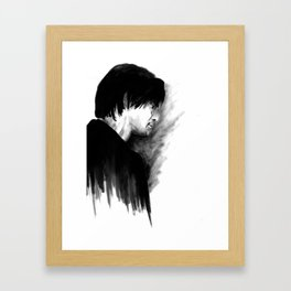 DARK COMEDIANS: Jim Carrey Framed Art Print
