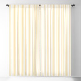 Trendy Large Buttercup Yellow Pastel Butter French Mattress Ticking Double Stripes Blackout Curtain