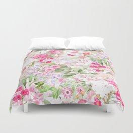 Vintage & Shabby Chic - Pastel Spring Flower Medow Duvet Cover