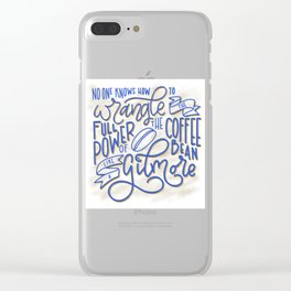 Drink Coffee Like a Gilmore Clear iPhone Case
