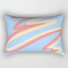 rainbow stripe 11 Rectangular Pillow