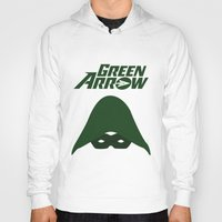 green arrow Hoodies featuring The Green Arrow by bivisual