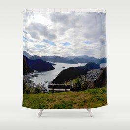 Bench n5 Shower Curtain