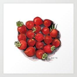 Mini tomatoes Art Print