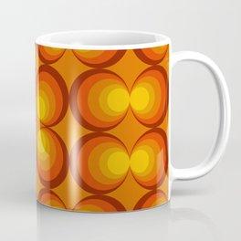 70s Circle Design - Orange Background Coffee Mug