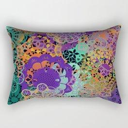 CHEERFUL FLORAL PATTERN I Rectangular Pillow
