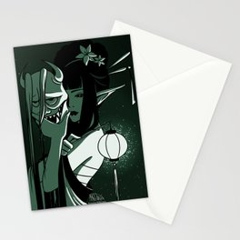 Noh Mask - Hannya Stationery Cards