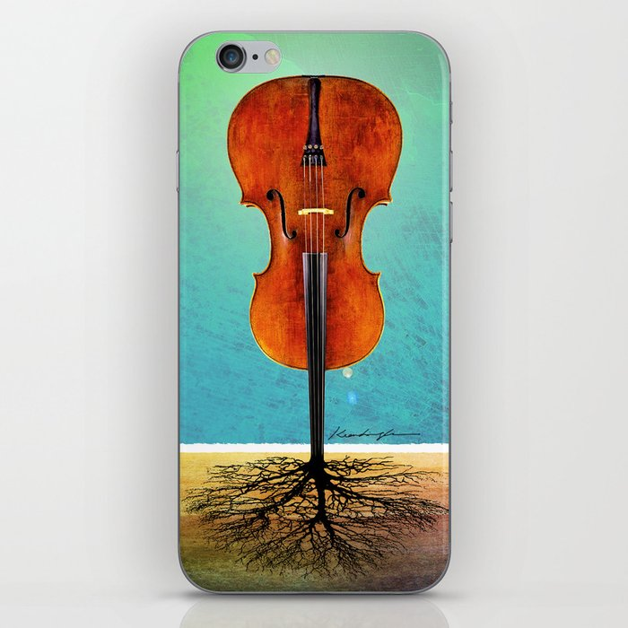 Rooted sound. iPhone Skin