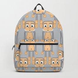 Super cute animals - Cheeky Grey Silver Monkey Backpack