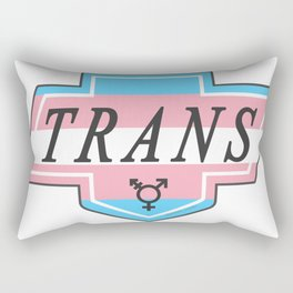Identity Stamp: Trans Rectangular Pillow