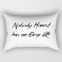 Nobody Honest Rectangular Pillow
