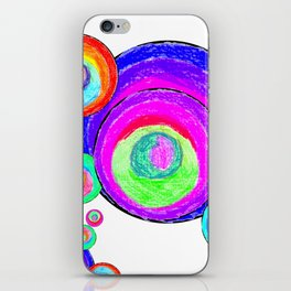 Colorful Secret Geometry | painting by Elisavet #society6 iPhone Skin