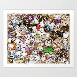 One Hundred Million Ferrets Art Print