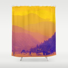 Mountains & Camels Shower Curtain