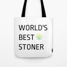 World's Best Stoner - Weed Marijuana Mary Jane Kemp Stoner Blaze It Tote Bag