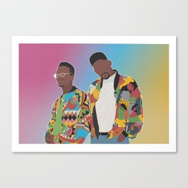 DJ JAZZY JEFF & THE FRESH PRINCE Canvas Print