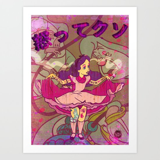 Alice F@!$%! Mad Art Print